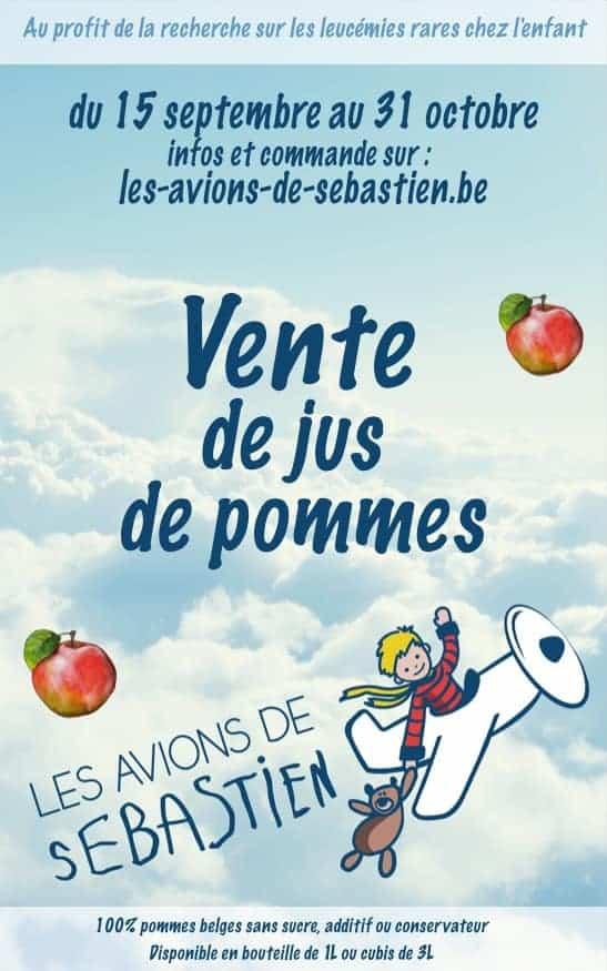 Affiche Vente de jus de pommes